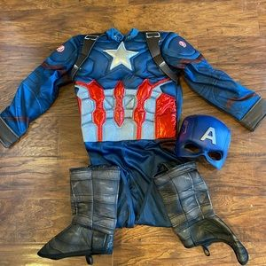 Deluxe captain America costume youth small